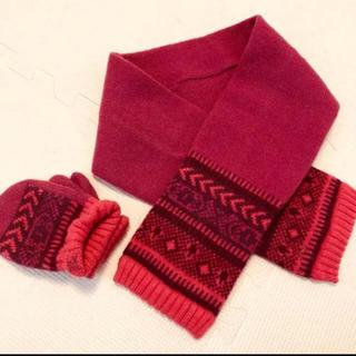 バーバリー(BURBERRY)の三陽商会製 バーバリーロンドン 子供マフラー 手袋セット 2-4才(手袋)