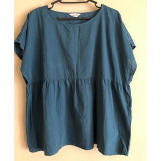 サマンサモスモス(SM2)のサマンサモスモス ブラウス ブルーグリーン フリーサイズ(シャツ/ブラウス(半袖/袖なし))