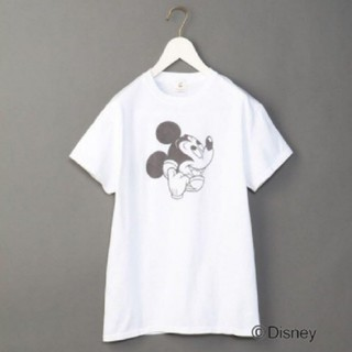 ビューティアンドユースユナイテッドアローズ(BEAUTY&YOUTH UNITED ARROWS)の最終値下げ rokuロク ミッキー Tシャツ(Tシャツ(半袖/袖なし))