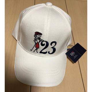 ニジュウサンク(23区)の新品未使用🌸🌼23区ゴルフ23周年デザインキャップ(その他)