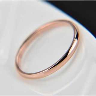 シンプルなファッションリング2mm(ピンクゴールド) サイズ:17号(リング(指輪))