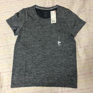 ユニクロ(UNIQLO)の新品 ユニクロ ドライEXクルーネックTシャツ M ダークグレー(その他)