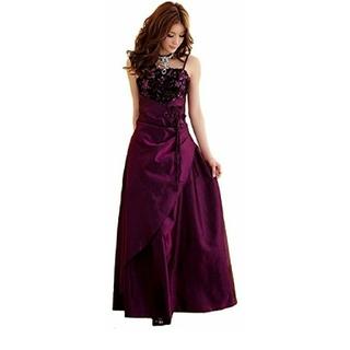 パーティードレス ロングドレス パープル 紫 4L 新品 大きいサイズ (その他ドレス)