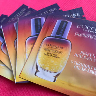 L'OCCITANE - ロクシタン イモーテル オーバーナイト リセットセラム(夜用美容液)サンプル5包