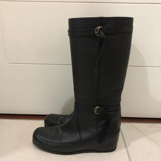 ロングブーツ 黒 24cm(ブーツ)