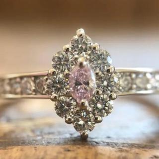 ピンクダイヤモンド リング ファンシーパープリッシュピンク(リング(指輪))
