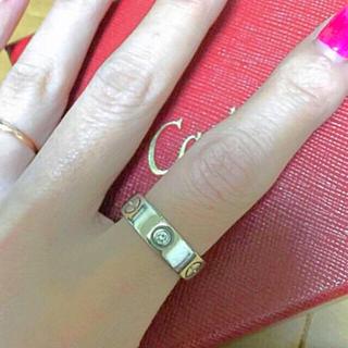 カルティエ(Cartier)のCartierラブリングハーフダイヤ(リング(指輪))