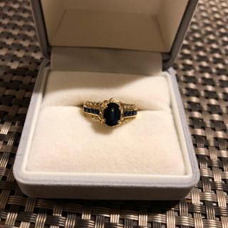 K18 サファイアブルー ダイヤ リング 指輪(リング(指輪))
