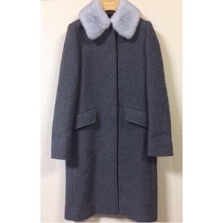 ミュウミュウ(miumiu)のmiumiu ミンク襟 コート ミュウミュウ 36 38(ロングコート)