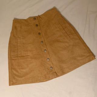 ワンアフターアナザーナイスクラップ(one after another NICE CLAUP)の♡ スウェード 台形 スカート ♡(ミニスカート)