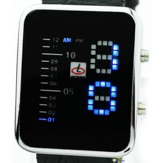 高級近未来デジタル 49 LED メンズ WATCH新品 PUレザー(腕時計(デジタル))