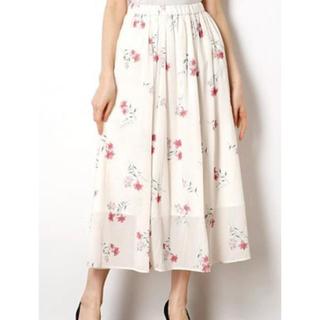 リランドチュール(Rirandture)のプリント刺繍マキシスカート(ロングスカート)