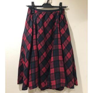 チェスティ(Chesty)のチェスティ Chesty チェックスカート 赤 レッド 1サイズ(ひざ丈スカート)