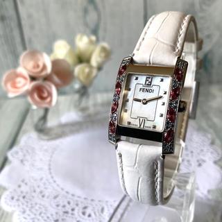 フェンディ(FENDI)の【美品】FENDI フェンディ 腕時計 7000L シェル 12P ダイヤ(腕時計)