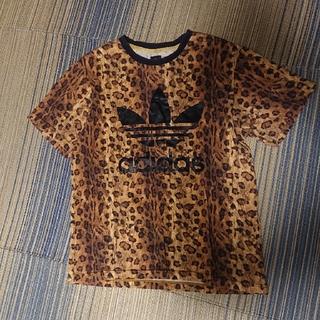 アディダス(adidas)のアディダス レオパード柄 tシャツ L(Tシャツ/カットソー(半袖/袖なし))