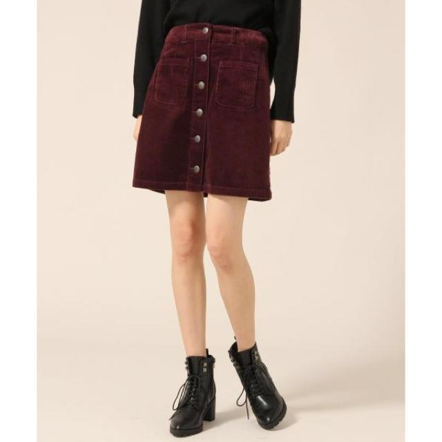 LOWRYS FARM(ローリーズファーム)のコーデュロイフロントボタンスカート レディースのスカート(ミニスカート)の商品写真