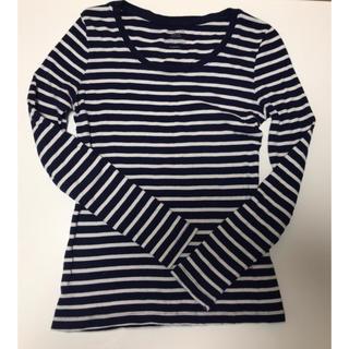 ジーユー(GU)のGU ボーダークルーネックT 長袖 2枚セット(Tシャツ(長袖/七分))
