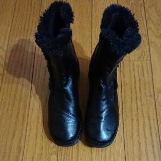 新品未使用!ショートブーツ ボア 本革 日本製 レディース 21cm 3EEE(ブーツ)
