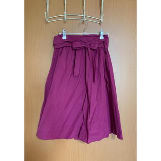 クチュールブローチ(Couture Brooch)のCouture brooch膝丈スカート(パープル)(ひざ丈スカート)