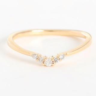 エテ(ete)のK10YG ダイヤモンド ピンキーリング 5号(リング(指輪))