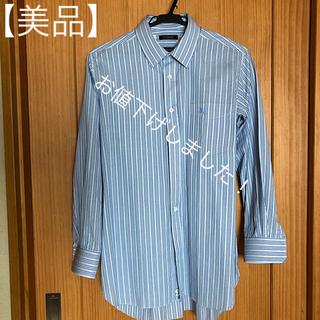 バーバリー(BURBERRY)の☆【15%お値下げ!】バーバリーシャツ  オーダーメイドシャツ(ブルー縦縞)☆(オーダーメイド)