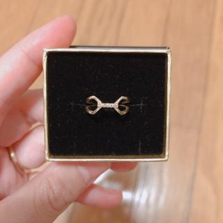 エテ(ete)のete K10ブラウンダイヤピンキーリング(リング(指輪))