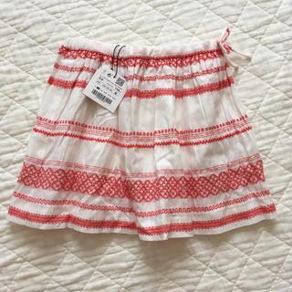 ザラキッズ(ZARA KIDS)の新品☆ZARA girls 刺繍スカート(スカート)