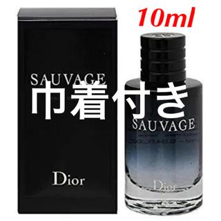 クリスチャンディオール(Christian Dior)の新品未使用☆ ディオール ソヴァージュ  オードトワレ 10ml(香水(男性用))