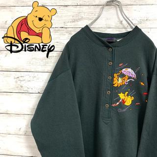 Disney - レア 古着 90s ディズニー プーさん ティガー スウェット トレーナー 刺繍