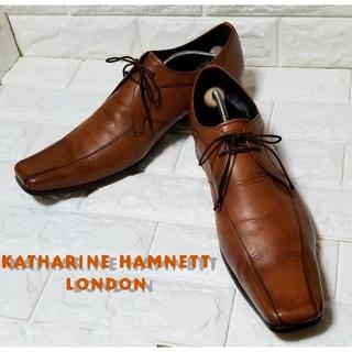 キャサリンハムネット(KATHARINE HAMNETT)の✿KATHALINE HAMNETT✿スワロートゥー 26.5cm 茶 (ドレス/ビジネス)