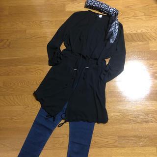 H&M - 上下コーデ3点セット♡新品未使用薄手ジャケット&デニム地スキニーパンツ&ストール