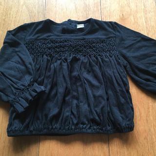 キャサリンハムネット(KATHARINE HAMNETT)のKATHARINE HAMNETT 90cm 黒 長袖カットソー(Tシャツ/カットソー)