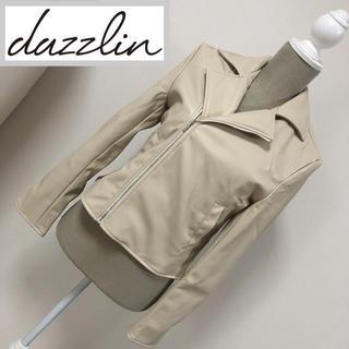 dazzlin - ダズリン ライダースジャケット ベージュ