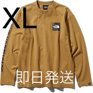 ザノースフェイス(THE NORTH FACE)のXLサイズ ノースフェイス L/S Square Logo Tee BK(Tシャツ/カットソー(七分/長袖))