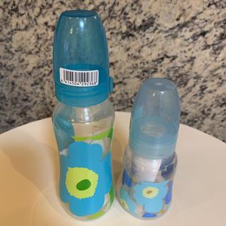 マリメッコ(marimekko)のmarimekko マリメッコ 哺乳瓶 ブルー 大 小 セット(哺乳ビン)