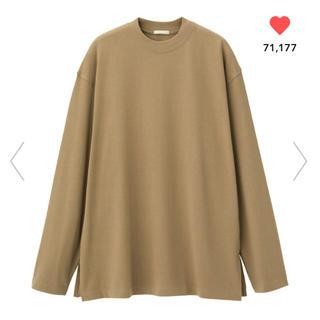 ジーユー(GU)のGU ロングスリーブT ブラウン(Tシャツ(長袖/七分))