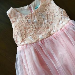 ミキハウス(mikihouse)のピンク シフォンドレス 90(ドレス/フォーマル)