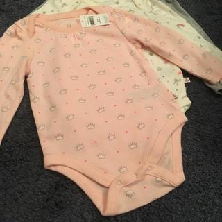 ベビーギャップ(babyGAP)のbaby GAP ベビーギャップ ロンパース  長袖 3枚組 80㎝ 12-18(ロンパース)