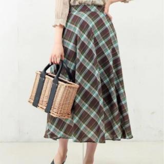 ナチュラルクチュール(natural couture)のチョコミントがらスカート(ロングスカート)
