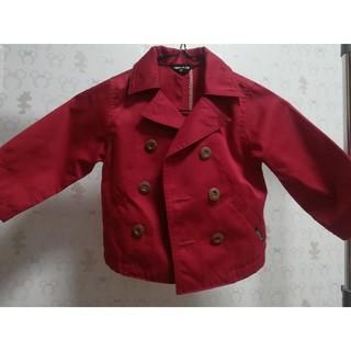 コムサイズム(COMME CA ISM)のコムサ 赤 トレンチコート(ジャケット/上着)