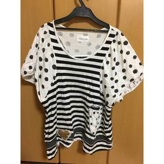 ツモリチサト(TSUMORI CHISATO)のツモリチサト ボーダードットTシャツ(Tシャツ(半袖/袖なし))