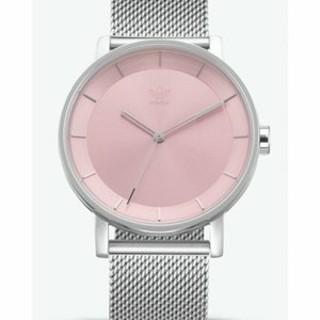 アディダス(adidas)のAdidas アディダス 腕時計 シルバー×ピンク Z04-3035(腕時計)