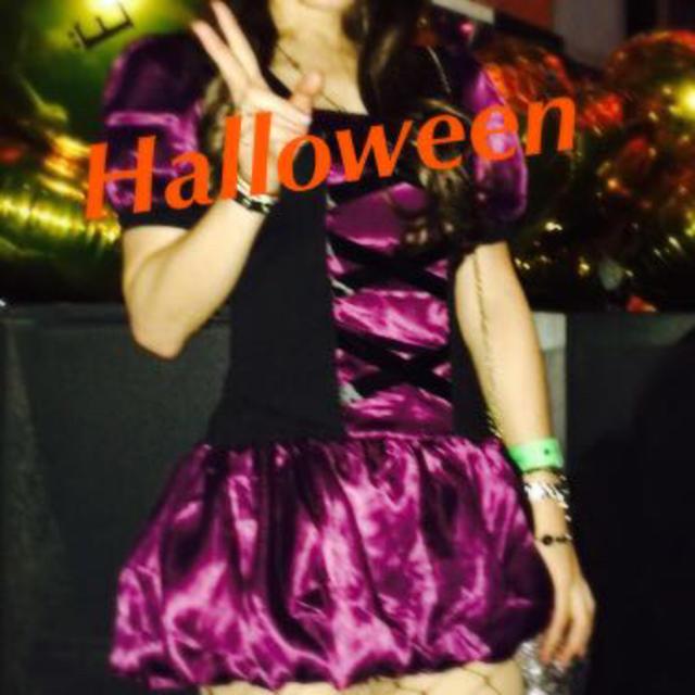 Halloween パープル魔女 レディースのレディース その他(その他)の商品写真