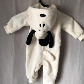 スヌーピー(SNOOPY)のスヌーピー カバーオール 70 赤ちゃん 美品 可愛い(カバーオール)