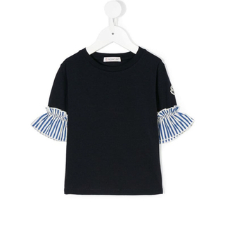 モンクレール(MONCLER)のモンクレール 12A  ほぼ未使用 フリル袖T(Tシャツ/カットソー)