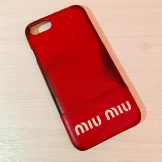 ミュウミュウ(miumiu)のmiumiu iPhone8/7 レザーカバー(iPhoneケース)