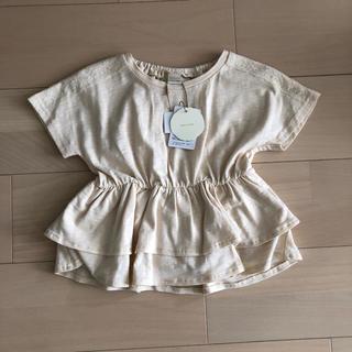 フタフタ(futafuta)のバースデイ テータテート  肩レースTシャツ(Tシャツ/カットソー)