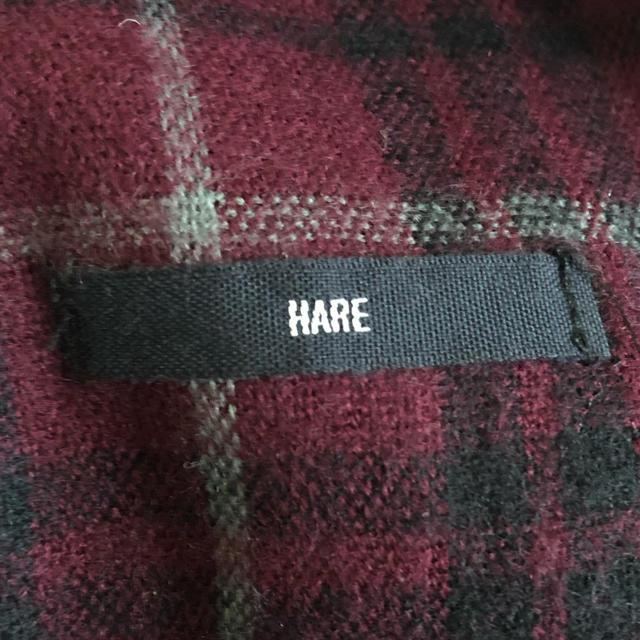 HARE(ハレ)のHARE マフラー チェック ボルドー メンズのファッション小物(マフラー)の商品写真