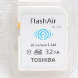 トウシバ(東芝)の❤️超大容量でお買い得❤️TOSHIBA FlashAir SDカード 32GB(デジタル一眼)