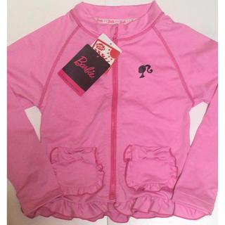 バービー(Barbie)の新品タグ付き Barbie 女の子 フリル リボン付き ラッシュガード 水着(水着)